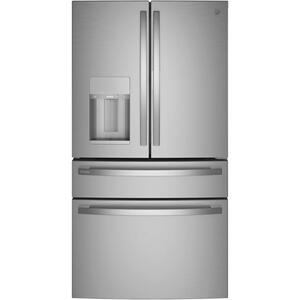 GE Profile™ 27.9 Cu. Ft. Smart Fingerprint Resistant 4-Door French-Door Refrigerator with Door In Door Product Image