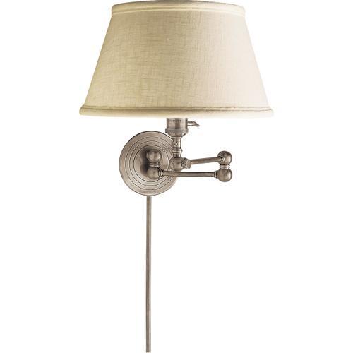E. F. Chapman Boston 19 inch 60.00 watt Antique Nickel Swing-Arm Wall Light