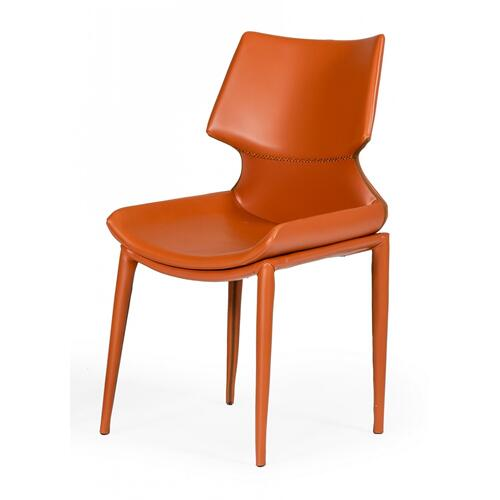 VIG Furniture - Modrest Helwig - Contemporary Cognac Eco-Leather Dining Chair (Set of 2)
