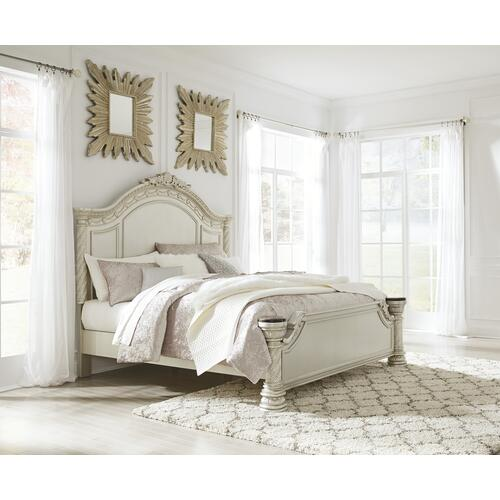 Cassimore - Pearl Silver 3 Piece Bed (King)