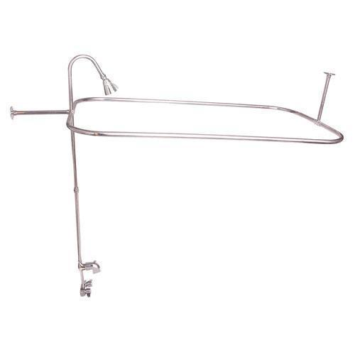 """Rectangular Shower Unit with Code Spout - Polished Nickel / 54"""" x 24"""""""