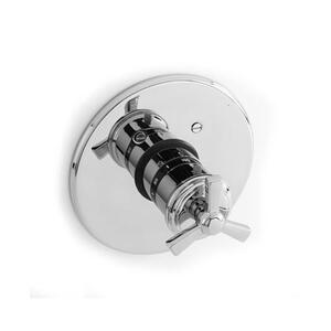 """Forever Brass - PVD 3/4"""" Round Thermostatic Trim Plate with Handle Product Image"""