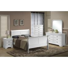 Louis Philippe Queen 4PC Bedroom Set, White