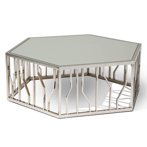 Reflections Shaped Cocktail Table