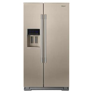 Whirlpool36-inch Wide Contemporary Handle Side-by-Side Refrigerator - 28 cu. ft. Fingerprint Resistant Sunset Bronze