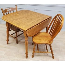Solid Wood Laminate Top Dropleaf Wood Table