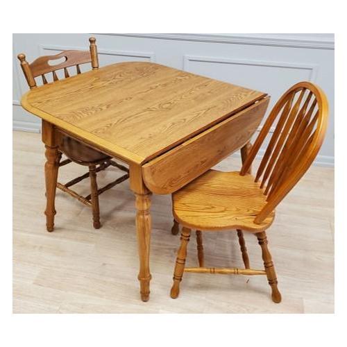 Gallery - Solid Wood Laminate Top Dropleaf Wood Table