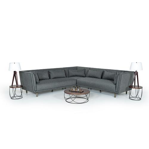 VIG Furniture - Modrest Strang Modern Walnut & Black Round Coffee Table