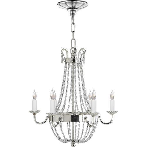 Visual Comfort - E F Chapman Paris Flea Market 6 Light 16 inch Polished Silver Chandelier Ceiling Light