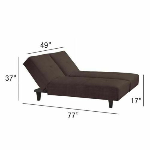 ACME Cybil Adjustable Sofa w/2 Pillows - 05855W-BR - Brown Microfiber