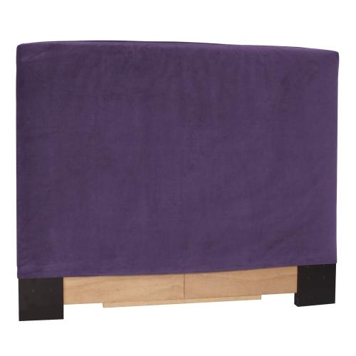 Twin Slipcovered Headboard Bella Eggplant (Base and Cover Included)
