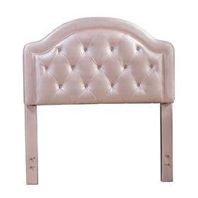 Karley Complete Twin-size Headboard Set, Pink Faux Leather