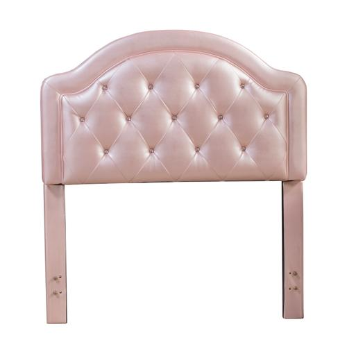 Gallery - Karley Complete Twin-size Headboard Set, Pink Faux Leather