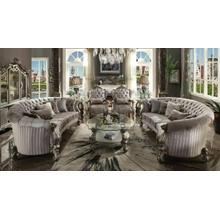 ACME Versailles Sofa w/5 Pillows - 56845 - Velvet & Antique Platinum
