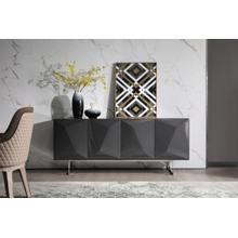 Modrest Vanguard - Modern Dark Grey High Gloss Buffet