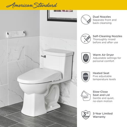 American Standard - Advanced Clean 3.0 SpaLet Bidet Seat with Remote Control  American Standard - White