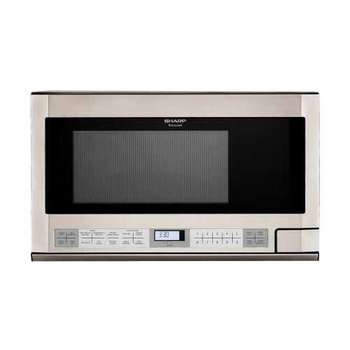 Sharp - 1.5 cu. ft. 1100W Sharp Stainless Steel Over-the-Counter Carousel Microwave Oven (R-1214)