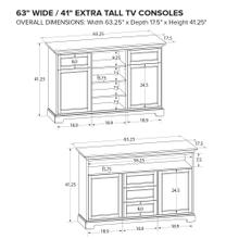 Howard Miller Extra Tall Custom TV Console XT63M