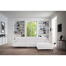View Product - Divani Casa Paraiso - Modern White Fabric Right Facing Sectional Sofa