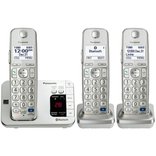 Link2Cell Expandable Cordless Phone with Amplified Volume- 3 Handsets
