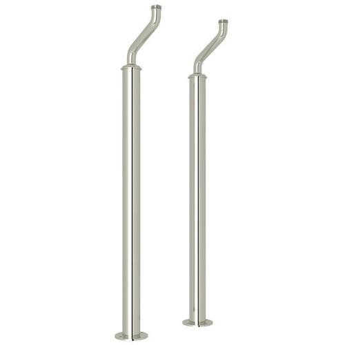 Pair of Floor Pillar Legs or Supply Unions - Polished Nickel