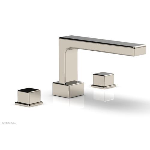 MIX Deck Tub Set - Cube Handles 290-43 - Polished Nickel