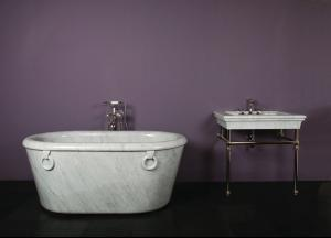 One of A Kind Bathtubs Ring / Carrara Marble Product Image