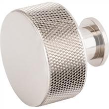 View Product - Beliza Cylinder Knurled Knob 1 3/8 Inch Polished Nickel Polished Nickel