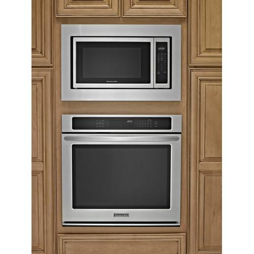 KitchenAid - 30 in. Microwave Trim Kit - Black-on-Stainless