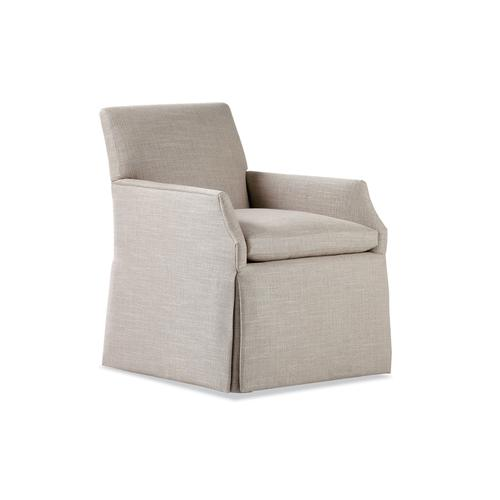 Jessica Charles - 987-C ALICIA CHAIR WITH CASTERS
