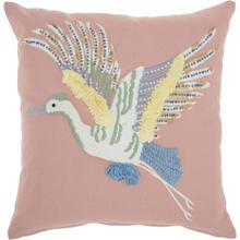 "Plushlines Ch422 Multicolor 18"" X 18"" Throw Pillow"