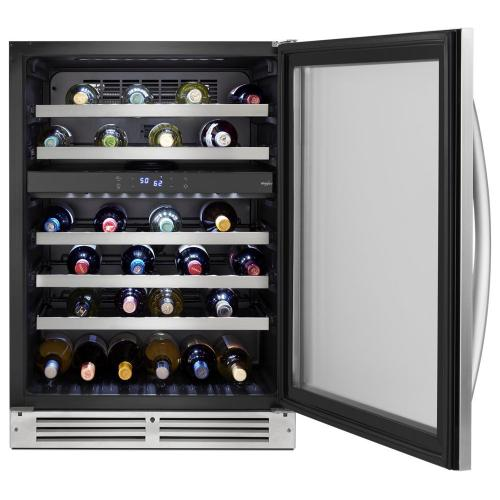 Whirlpool - 24-inch Wide Undercounter Wine Center with 46-Bottle Wine Storage