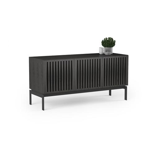 Triple Wide Cabinet W Console Base in Tempo Doors Charcoal Stained Ash