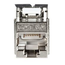 Cat6A shielded self terminating keystone jack