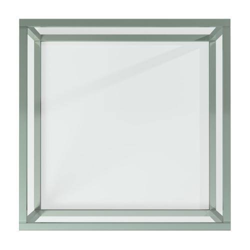 Howard Elliott - Square Stainless Steel Coffee Table - Clear