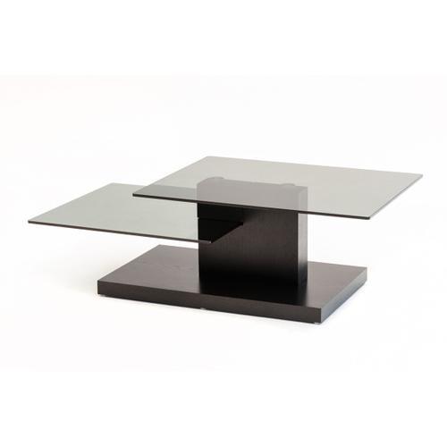 VIG Furniture - Modrest Dove Contemporary Black Oak and Glass Coffee Table