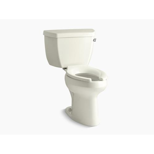 Biscuit Two-piece Elongated Chair Height Toilet
