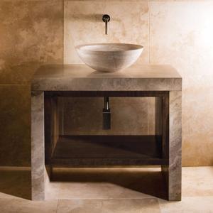 Siena Lastra Vanity Siena Silver Gray Marble Product Image