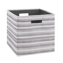Cody Bin Grey Stripe 2 Pack