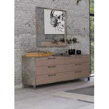 Nova Domus Boston - Modern Brown Oak & Brushed Stainless Steel Dresser