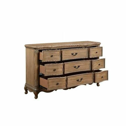 ACME Teagan Dresser (Jewerly Tray) - 22095 - Traditional - Wood (Poplar), Wood Veneer (Pine), Poly-Resin, MDF - Oak