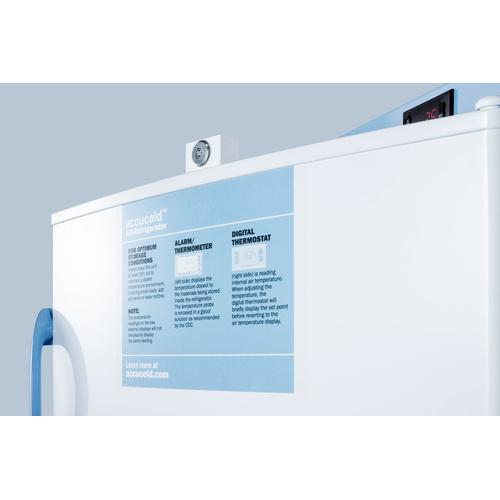 Summit - 10.1 CU.FT. Upright Auto Defrost Medical/scientific All-refrigerator With Digital Thermostat and Nist Calibrated Thermometer/alarm; Includes Front Lock, Hospital Grade Cord, and Internal Fan