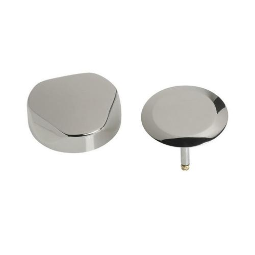 TurnControl Bath Waste and Overflow A dazzling turn Brass - ForeverShine PVD polished nickel Material - Finish
