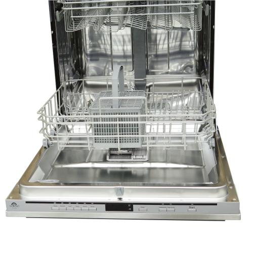 """Forno - FORNO - 24"""" BUILT-IN DISHWASHER CABINET OR SS PANEL 12 PLACE SETTING CAPACITY"""