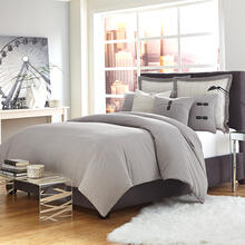 8 Pc King Duvet Set Gray