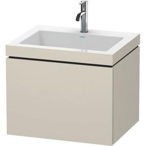 Furniture Washbasin C-bonded With Vanity Wall-mounted, Taupe Matte (decor)