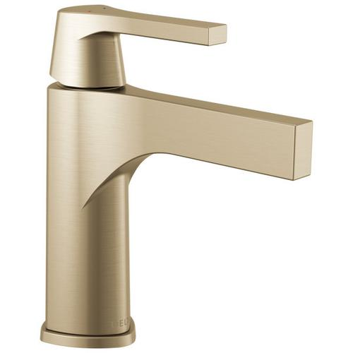 Champagne Bronze Single Handle Bathroom Faucet - Less Pop Up