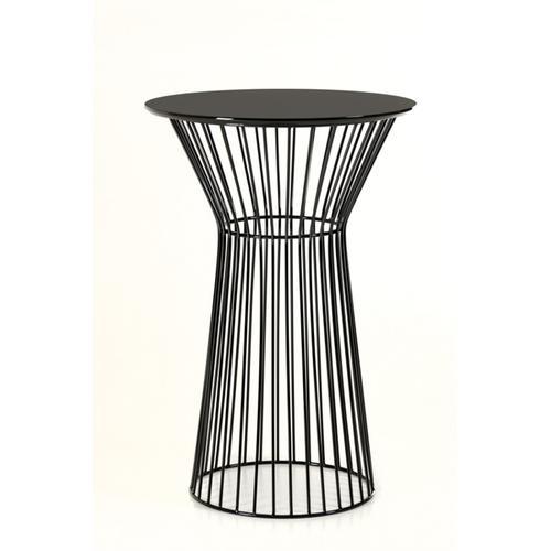 VIG Furniture - Modrest Graph Modern Black Round Bar Table