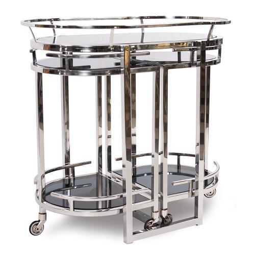 Howard Elliott - Nesting Stainless Steel Bar Cart
