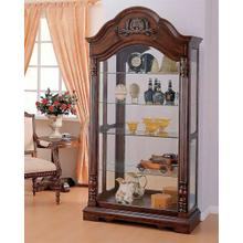 ACME Denton Curio Cabinet - 90054 - Cherry